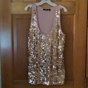 Apt 9 Sequin Tank Top Size Large